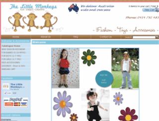 thelittlemonkeys.com.au screenshot