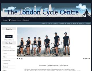 thelondoncyclecentre.co.uk screenshot