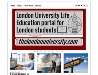 thelondonuniversity.com screenshot