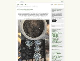 thelongtable.blog screenshot