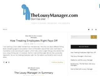 thelousymanager.com screenshot