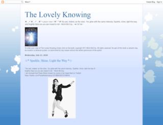 thelovelyknowing.blogspot.com screenshot