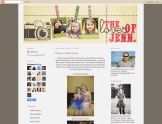thelovesofjenn.com screenshot
