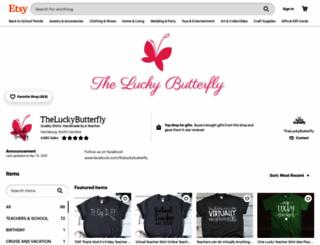 theluckybutterfly.com screenshot