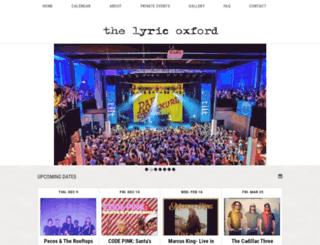 thelyricoxford.com screenshot