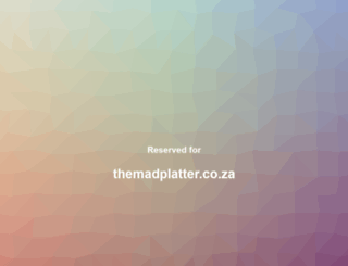 themadplatter.co.za screenshot