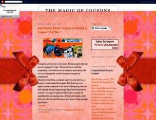 themagicofcoupons.blogspot.com screenshot