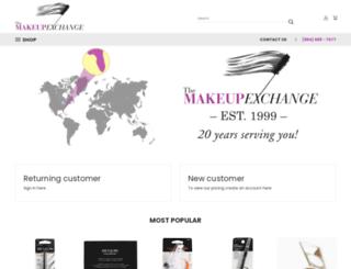 themakeupexchange.com screenshot