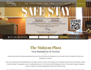 themalayanplazahotel.com screenshot