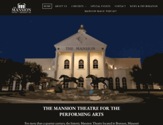 themansiontheatre.com screenshot