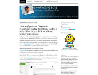 themarketingblog.wordpress.com screenshot