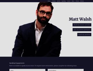themattwalshblog.com screenshot