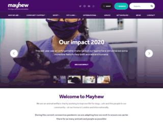 themayhew.org screenshot
