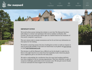 themaynard.co.uk screenshot