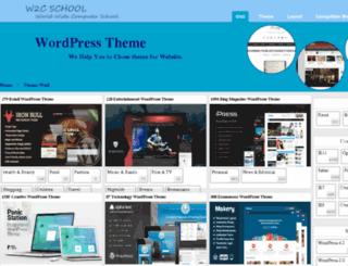 theme.w2cschool.com screenshot