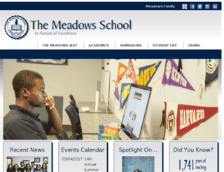 themeadowsschool.us screenshot