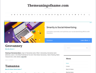 themeaningofname.com screenshot