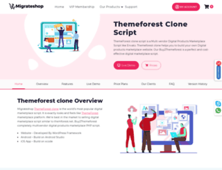 themeforestclone.migrateshop.com screenshot