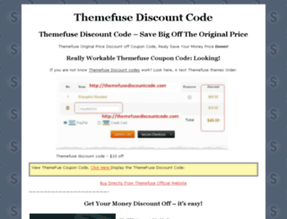 themefusediscountcode.com screenshot