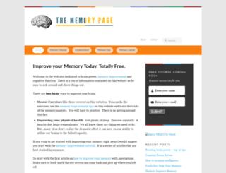 thememorypage.net screenshot