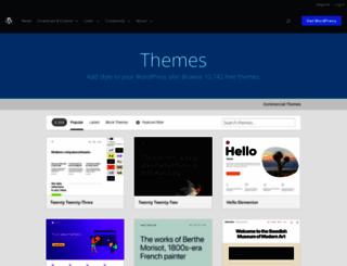 themes.wordpress.net screenshot