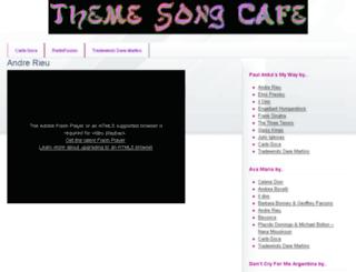 themesongcafe.com screenshot
