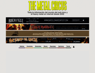 themetalcircus.com screenshot