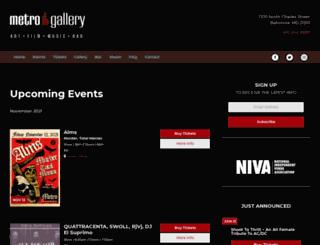 themetrogallery.net screenshot