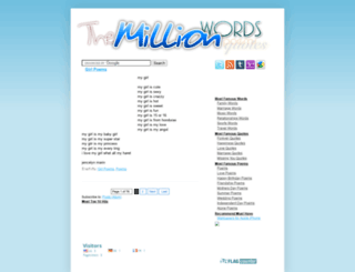 themillionwords.blogspot.com screenshot
