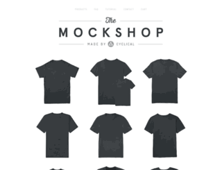 themockshop.bigcartel.com screenshot