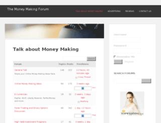 themoneymakingforum.com screenshot
