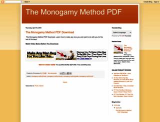 themonogamymethodpdf.blogspot.com screenshot