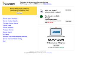 themostpopulardomain.com screenshot