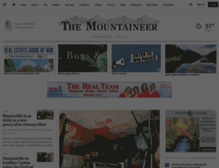 themountaineer.villagesoup.com screenshot
