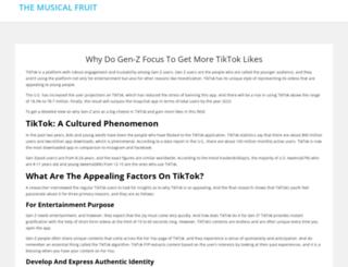 themusicalfruit.net screenshot