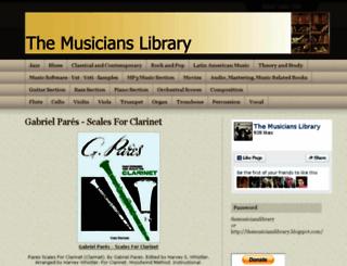 themusicianslibrary.blogspot.com screenshot