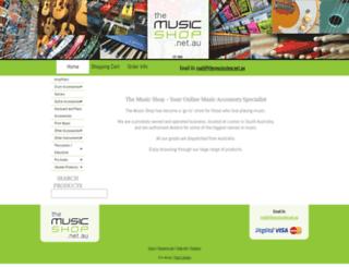 themusicshop.net.au screenshot