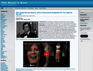 themusicsover.wordpress.com screenshot