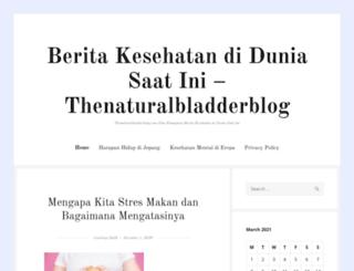 thenaturalbladderblog.com screenshot
