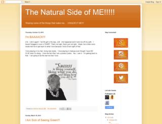 thenaturalsideofme.blogspot.com screenshot