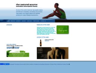 thenaturalsource.com.au screenshot