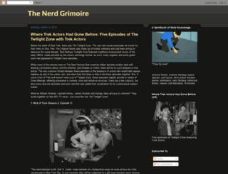 thenerdgrimoire.blogspot.ie screenshot