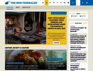 thenewfederalist.eu screenshot