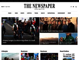 thenewspaper.co.za screenshot