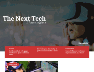 thenexttech.startupitalia.eu screenshot