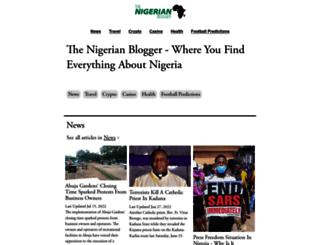 thenigerianblogger.com screenshot