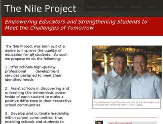 thenileproject.net screenshot