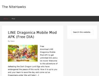 thenitehawks.org screenshot