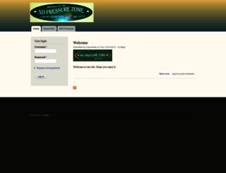 thenopressurezone.com screenshot