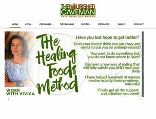 thenourishedcaveman.com screenshot